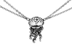 Silver Spoon Jellyfish Necklace