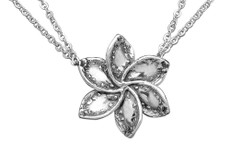 Silver Spoon Lila Flower Necklace