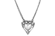 Silver Spoon Marquis Heart Necklace