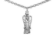 Silver Spoon Angel Necklace