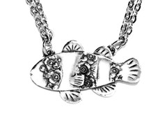 Silver Spoon Clownfish Necklace