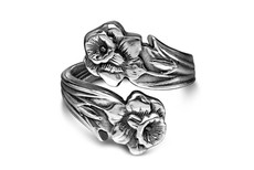 Silver Spoon Lilly  Adjustable Ring