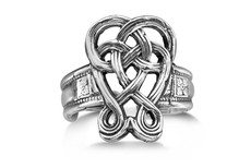 Silver Spoon Celtic  Adjustable Ring