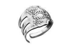 Silver Spoon Fork Laureate  Adjustable Ring