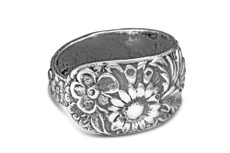 Silver Spoon Corsage Adjustable Ring