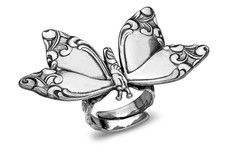 Silver Spoon Butterfly Adjustable Ring