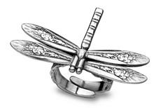 Silver Spoon Dragonfly  Adjustable Ring
