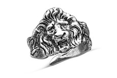 Silver Spoon Lion Adjustable Ring