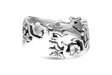 Silver Spoon Cherry Blossom Adjustable Ring