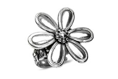 Silver Spoon Marquis Flower Adjustable Ring