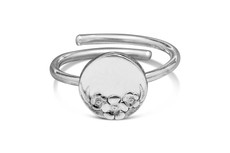 Silver Spoon Circle Sterling Adjustable Ring