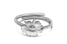 Silver Spoon Daisy Sterling Silver Adjustable Ring