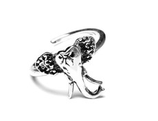 Silver Spoon Elephant Sterling Adjustable Ring