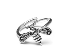 Silver Spoon Bee Sterling Adjustable Ring