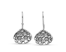 Silver Spoon Florentine Heart Drop Earrings