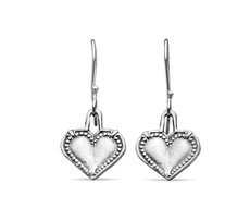 Silver Spoon Monterey Heart Drop Earrings