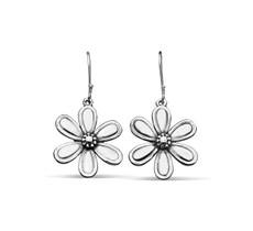 Silver Spoon Marquis Flower Drop Earrings