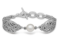 Silver Spoon English Lace With Pearl Bracelet