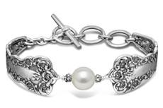 Silver Spoon Lady Helen Pearl Bracelet