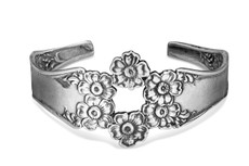 Silver Spoon Florentine Cuff Bracelet