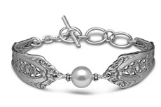 Silver Spoon Empire Pearl Bracelet