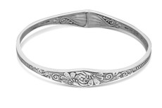 Silver Spoon Princess Bangle Bracelet
