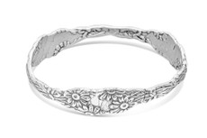 Silver Spoon Daisy Bangle Bracelet