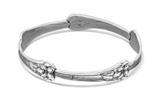 Silver Spoon Morning Glory Bangle Bracelet