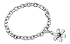 Silver Spoon Marquis Flower Charm Bracelet