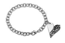 Silver Spoon Charlotte Heart Charm Bracelet