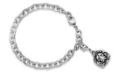 Silver Spoon Lion Charm Bracelet