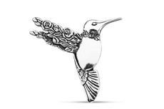 Silver Spoon Hummingbird Pin