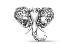 Silver Spoon Elephant  Pin