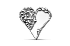 Silver Spoon Charlotte Heart Pin