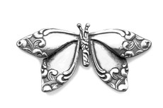 Silver Spoon Butterfly  Pin
