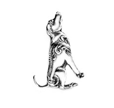 Silver Spoon Scout Dog Pin