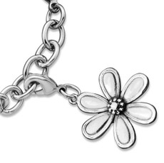 Silver Spoon Marquis Flower Charms
