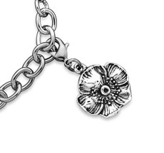 Silver Spoon Wild Rose  Charms