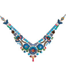 Ayala Bar Cornflower Turkish Tile Necklace