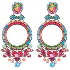 Ayala Bar Polyanthus Hula Hoop Earrings