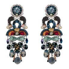 Ayala Bar Hellebore Holly Long Post Earrings
