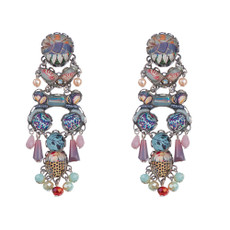 Ayala Bar Angelonia Tapestry Earrings - One Left