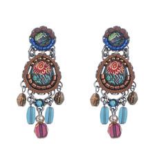 Gold Ayala Bar Jewelry Pine Earrings