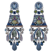 Blue Hemlock style earrings by Ayala Bar Jewelry