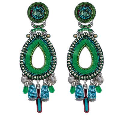Green Ayala Bar Jewelry Cornelia Earrings