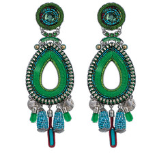 Green Ayala Bar Jewelry Cornelia Earrings
