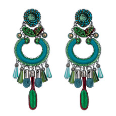 Green Ayala Bar Jewelry Cornelia Style Earrings