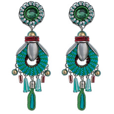 Green Cornelia earrings from Ayala Bar Jewelry