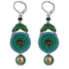 Green Cornelia earrings by Ayala Bar Jewelry