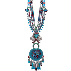 Blue Ayala Bar Jewelry Coral Cave Style Necklace